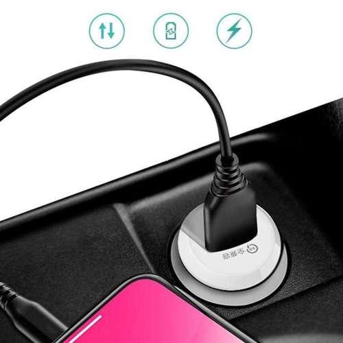 Dudao ładowarka samochodowa USB szybkie ładowanie Quick Charge 3.0 QC3.0 4A 15W biały (R4 white)