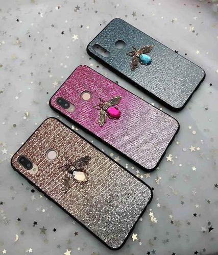 Etui Bee Glitter IPHONE 7 niebieskie
