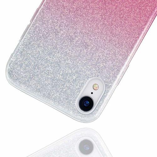 Etui Brokat Glitter HUAWEI P30 LITE srebrno-różowe