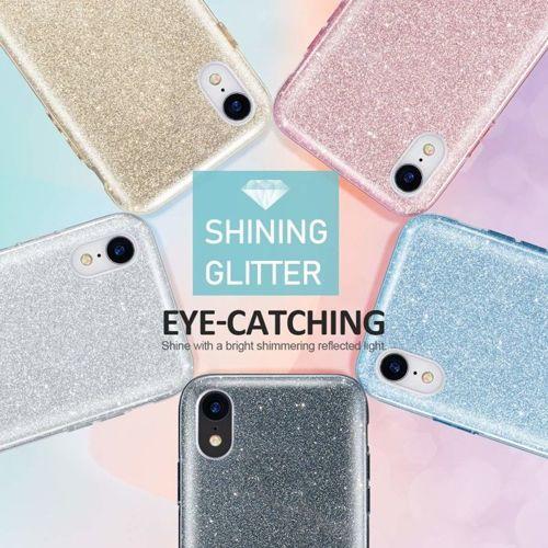 Etui Brokat Glitter SAMSUNG GALAXY A7 2018 niebieskie