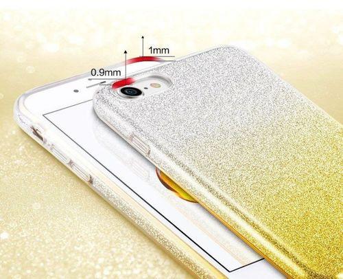 Etui Brokat Glitter XIAOMI REDMI 7A srebrno-złote