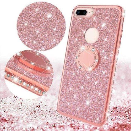 Etui Diamond Ring Glitter Brokat SAMSUNG GALAXY S10e różowe