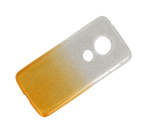 Etui Glitter MOTOROLA MOTO G6 PLAY srebrno-złote