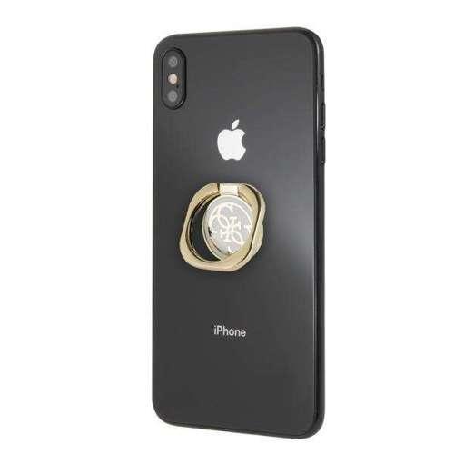 Etui Guess Ring stand GURSEQGWH złoto-biały /gold & white 4G
