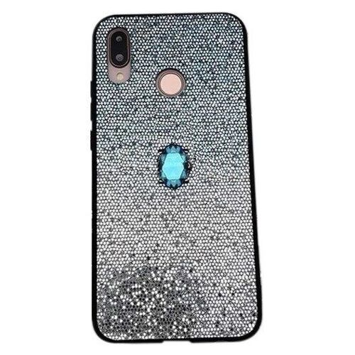 Etui HUAWEI P SMART 2019 Stone Glitter niebieskie