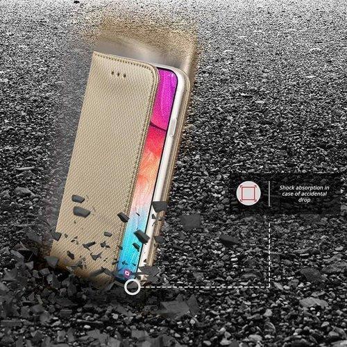 Etui MOTOROLA MOTO E6 PLAY portfel z klapką Flip Magnet złote