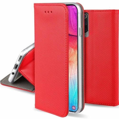 Etui MOTOROLA MOTO ONE ZOOM portfel z klapką Flip Magnet czerwone