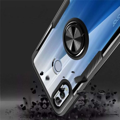 Etui Pancerne Clear Carbon Ring HUAWEI P SMART 2019 czarne