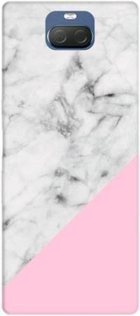 Etui ROAR JELLY biały marmur z pudrowym na Sony Xperia 10