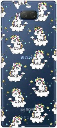 Etui ROAR JELLY jednorożce na chmurce na Sony Xperia 10