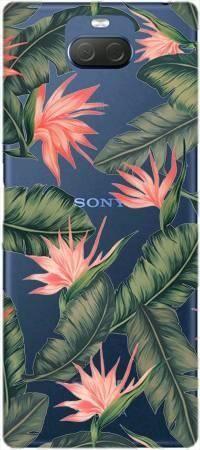 Etui ROAR JELLY liście z kwiatami na Sony Xperia 10