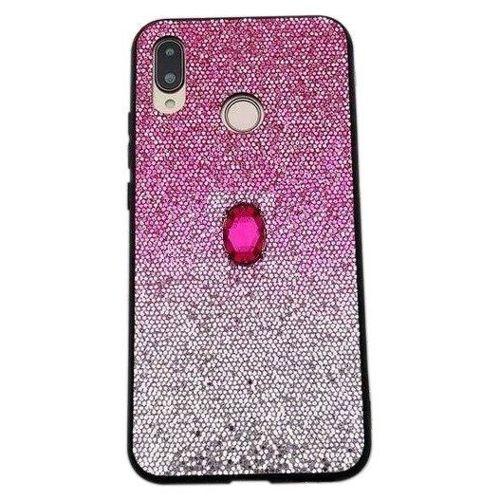 Etui SAMSUNG GALAXY A10 Stone Glitter różowe