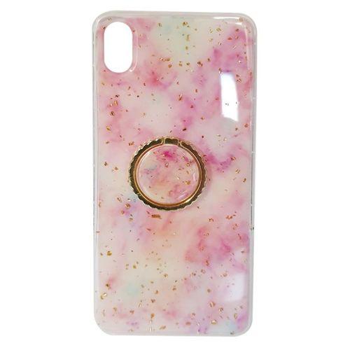 Etui SAMSUNG GALAXY A40 Marble Ring jasny róż