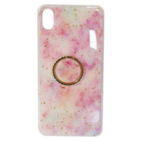 Etui SAMSUNG GALAXY S10+ PLUS Marble Ring jasny róż