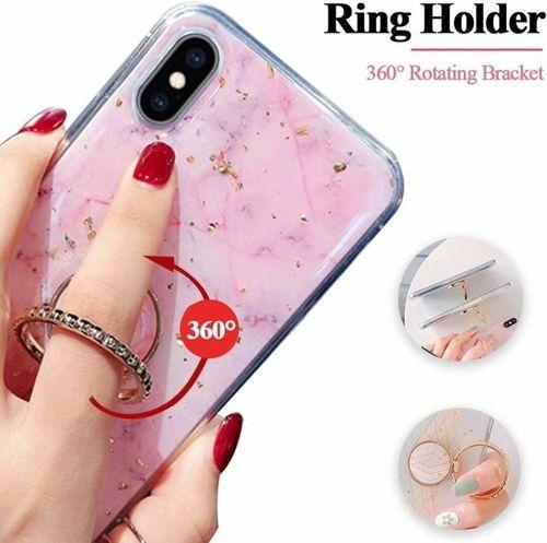 Etui SAMSUNG GALAXY S8 Marble Ring turkusowe