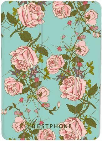 "Etui SMARTCASE miętowe kwiaty na Samsung GALAXY TAB E 9.6"""