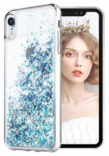 Etui Samsung Galaxy A70 Liquid plecki brokatowe niebieskie