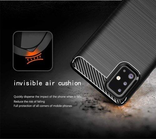 Etui Samsung Galaxy A71 Pancerne Carbon czarne