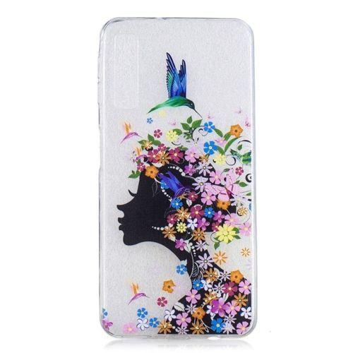 Etui Slim Art SAMSUNG A7 2018 kwiecista dziewczyna