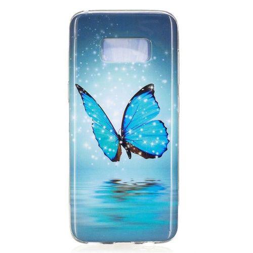 Etui Slim Art Samsung Galaxy S8 błyszczący niebieski motyl