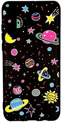 Etui Slim case Art SAMSUNG GALAXY J6+ J6 PLUS planety różowe