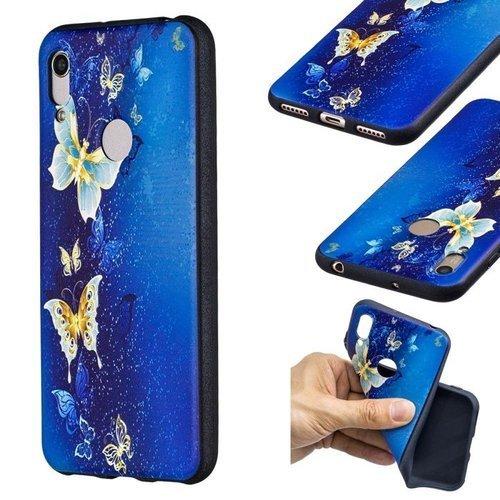 Etui Slim case Art Wzory HUAWEI Y6 2019 / HONOR 8A niebieski motyl