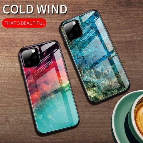 Etui Szklane Glass case Art IPHONE 11 szmaragd