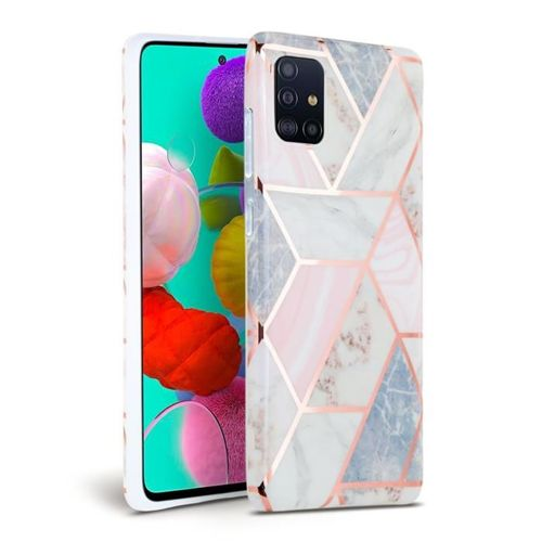 Etui TECH-PROTECT MARBLE Samsung Galaxy A51 PINK