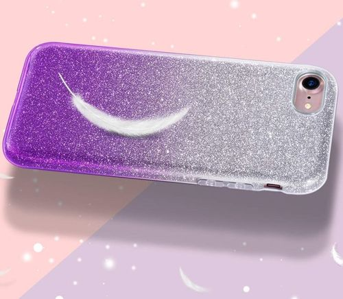 Etui XIAOMI REDMI 6A Brokat Glitter srebrno-fioletowe