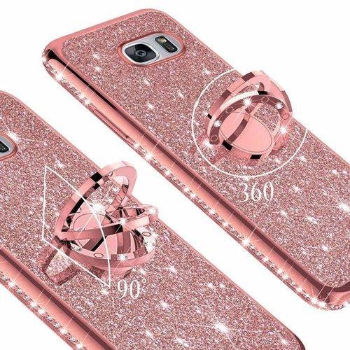 Etui XIAOMI REDMI 8A Diamond Ring Brokat różowe