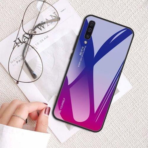 Etui XIAOMI REDMI 8A Szklane Glass case Gradient niebiesko-różowe