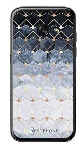 Etui art deco błękitne na Samsung Galaxy A3 2017