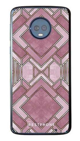 Etui art deco wrzosowe na Motorola Moto G6 Plus