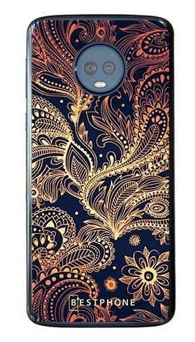 Etui art deco złote na Motorola Moto G6 Plus