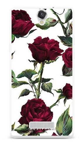 Etui czerwone róże na MyPhone Cube