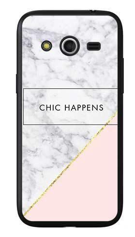 Etui dla dziewczyny chic happens na Samsung Galaxy Core LTE