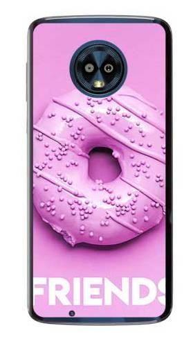 Etui dla przyjaciół friends donut fioletowy na Motorola Moto G6