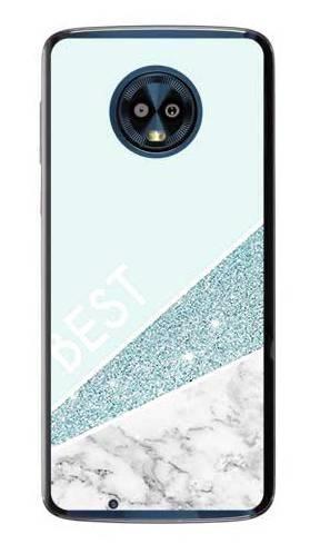 Etui dla przyjaciół friends glitter niebieski na Motorola Moto G6