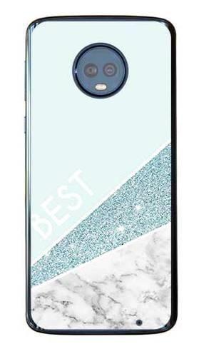 Etui dla przyjaciół friends glitter niebieski na Motorola Moto G6 Plus