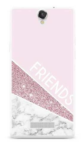 Etui dla przyjaciół friends glitter różowy na MyPhone Cube