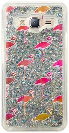 Etui flamingi brokat na Samsung Galaxy J3 2016 V2