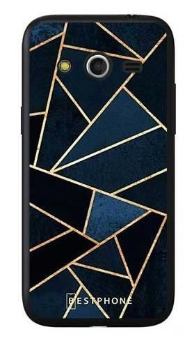 Etui geometria granatowa na Samsung Galaxy Core LTE