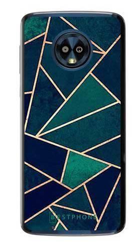 Etui geometria turkus na Motorola Moto G6