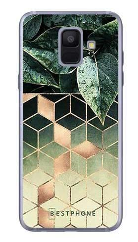 Etui geometryczna roślina na Samsung Galaxy A6