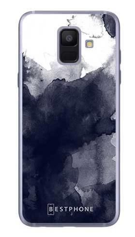 Etui granatowa akwarela na Samsung Galaxy A6