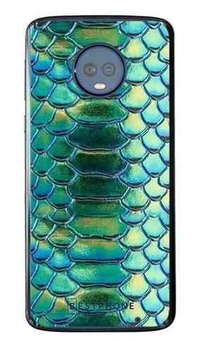 Etui holograficzna skóra węża na Motorola Moto G6 Plus
