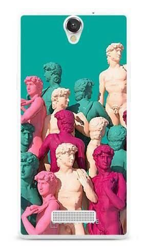 Etui kolorowe posągi na MyPhone Cube