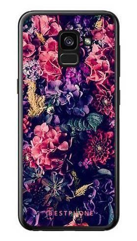 Etui kwiatowa kompozycja na Samsung Galaxy A7 2018