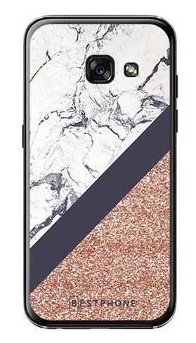 Etui marmurowy brokat na Samsung Galaxy A3 2017