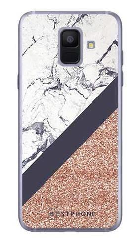 Etui marmurowy brokat na Samsung Galaxy A6